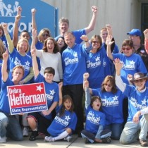 Governor Jack Markell helped Debra Heffernan's Volunteers canvas voters in the 6th district